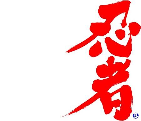 Ninja brushed kanji