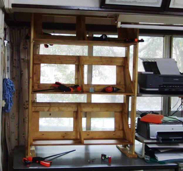 2×4で書類棚 作成 設置