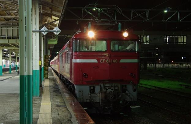 EF81 140牽引 485系新潟車T18編成(クハ481 1508欠車) AT入場配給(廃車回送)