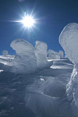 樹氷と太陽