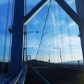因島大橋の夕暮れ