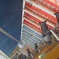 写真: ホテルの吹き抜け部分を最上階(24階だったかな?)から見下ろしてみた。