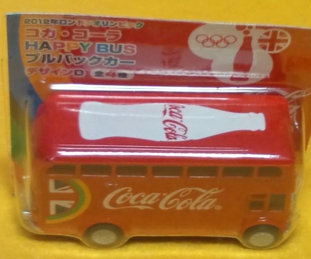非売品 コカ・コーラ HAPPY BUS 二階建て バス プルバック カー ミニカー