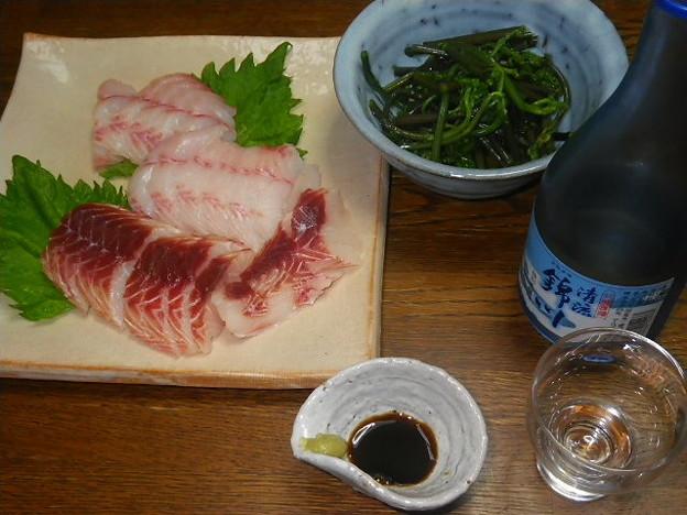 RIMG4540岩国市、清流錦川とモサとワラビの煮浸し