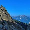 イルカ岩と槍ケ岳