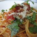 写真: トマトソースのスパゲッティ