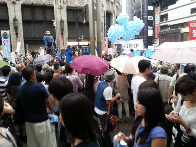 新宿で安保反対集会やってる!