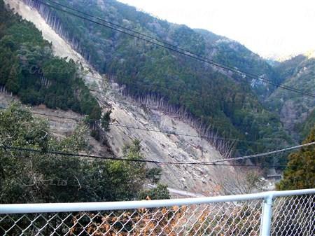 台風12号で被害を受けた斜面 奈良県