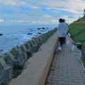 千米田と海  早朝の散歩