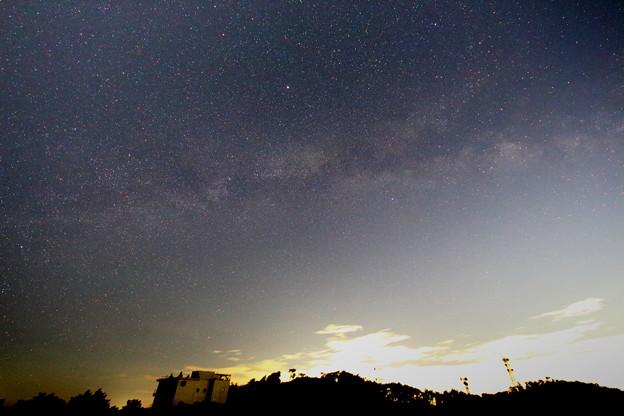 天の川と織姫星と彦星