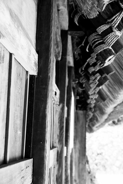 モノクロの風景。。懐かしむ木造の温かみ。。川崎市日本民家園6月28日