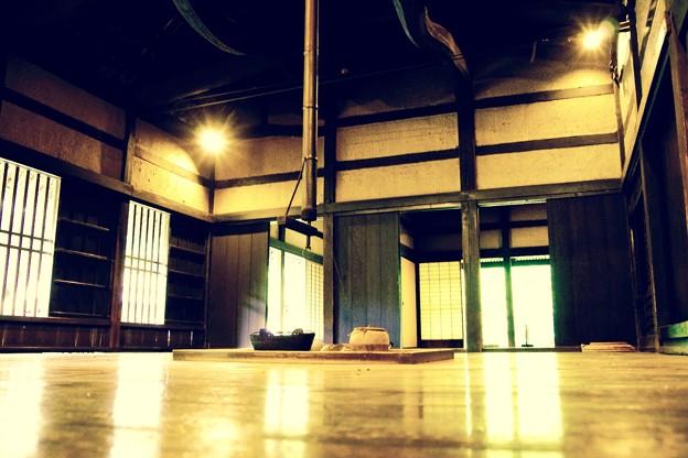 子供の目線で見る囲炉裏風景。。川崎市日本民家園6月28日