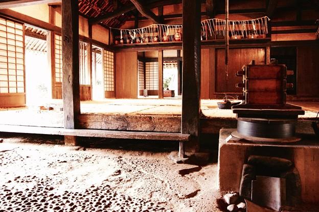 日本民家の玄関風景。。川崎市日本民家園6月28日