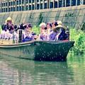 渡せ舟に乗って演奏。。佐原の大祭7月11日