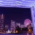 Photos: ある日の寒い日の横浜夜景・・ナビオスのライトアップでみなとみらいを彩る 20141212