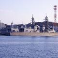 大晦日の横須賀基地 吉倉桟橋停泊の護衛艦むらさめ・・20141231
