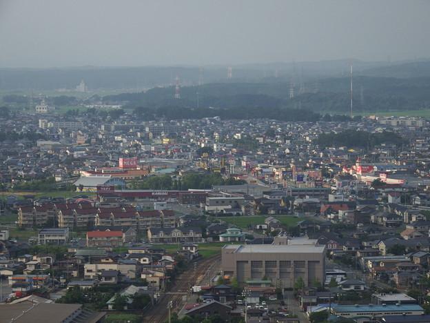 秋田市北部の風景
