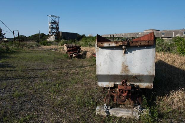 炭車と第一立坑(池島)