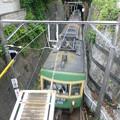 Photos: 極楽寺トンネルからでてくる江ノ電