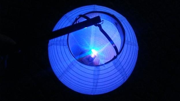 LEDを浮かべた提灯