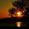 洞爺湖キャンプ場 夕陽