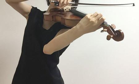 中野・江古田 バイオリン 個人レッスン ヴィオラ 吉瀬弥恵子 ワイズ音楽教室 即席!弓に圧力が乗る方法