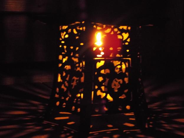 今宵は蝋燭で