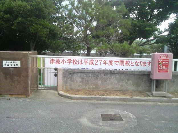 大宜味村立津波小学校。「つなみ」ではなく「つは」。今年度いっぱいで閉校か。