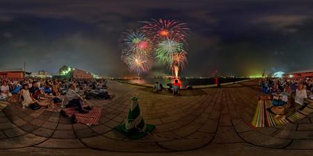 2015年8月2日 清水みなと祭り 海上花火大会 360度パノラマ写真